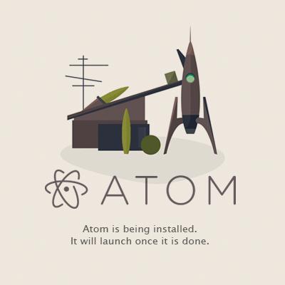 Atom インストール 起動画面