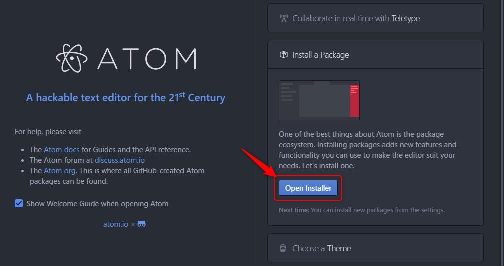 Atom インストール パッケージ02