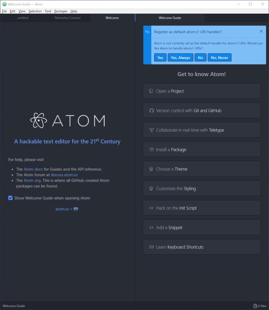Atom エディター